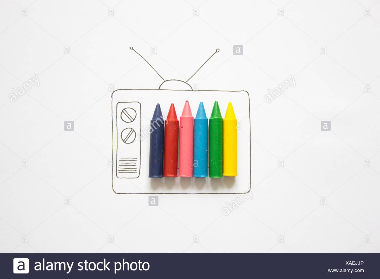 Televisión en color conceptual Imagen De Stock