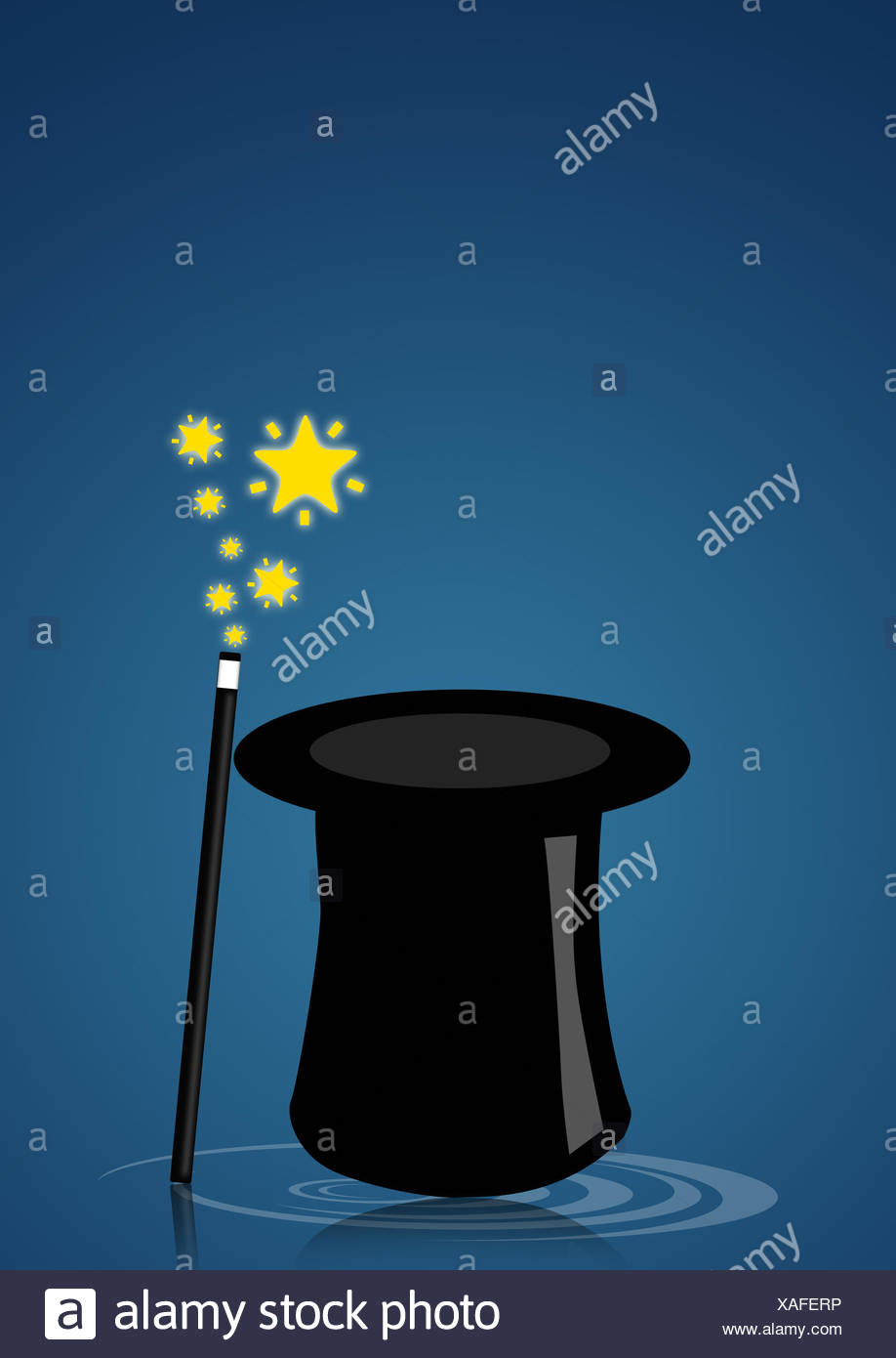 Accesorios accesorios sombrero ilusión magia estrellas asteriscos  herramientas Varita mágica Imagen De Stock 2769f2df966e