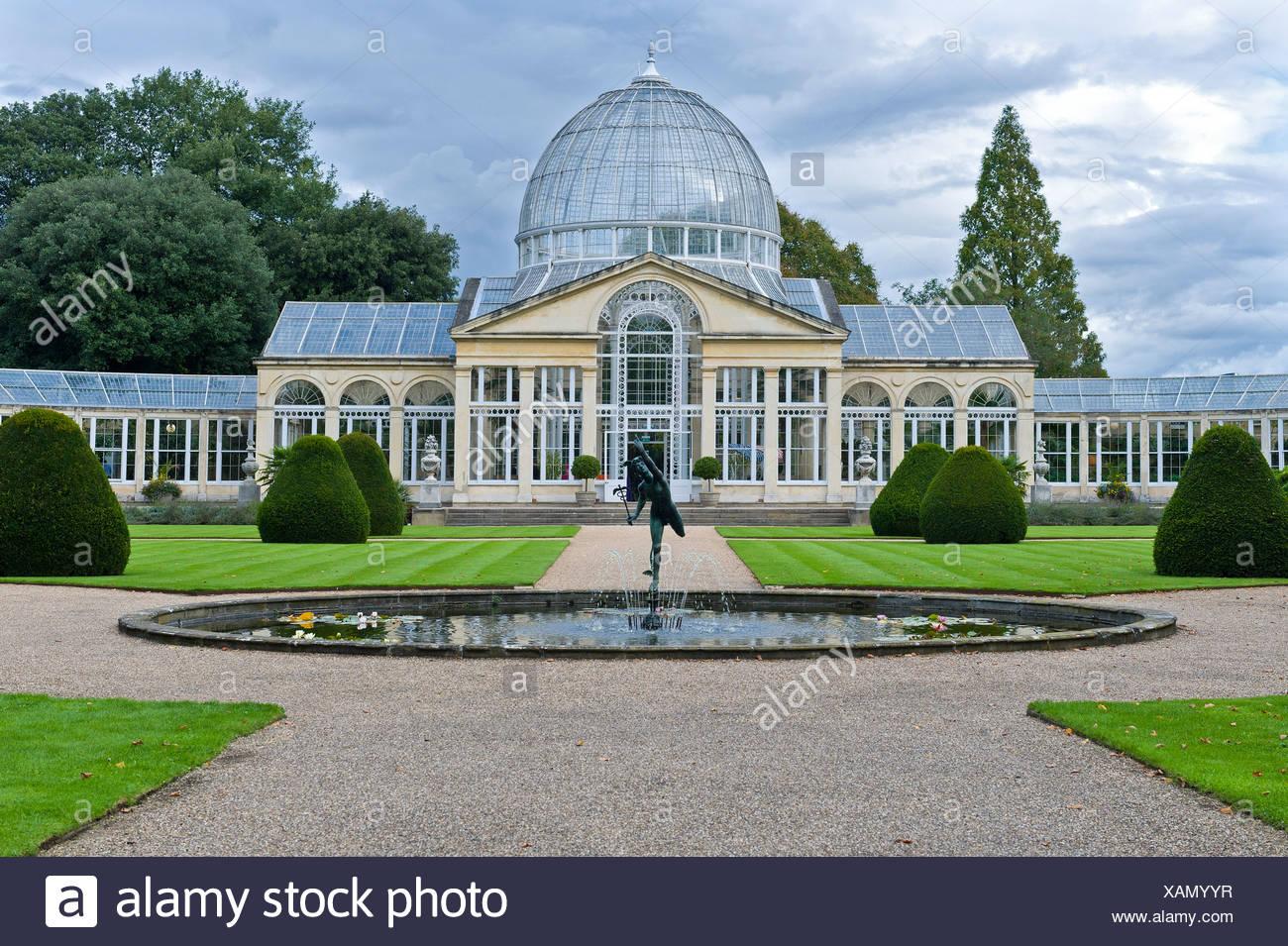 Efecto invernadero, modelo para el Crystal Palace de Londres, Syon House, duque de Northumberland, la residencia londinense, Isleworth, Hounslow Foto de stock