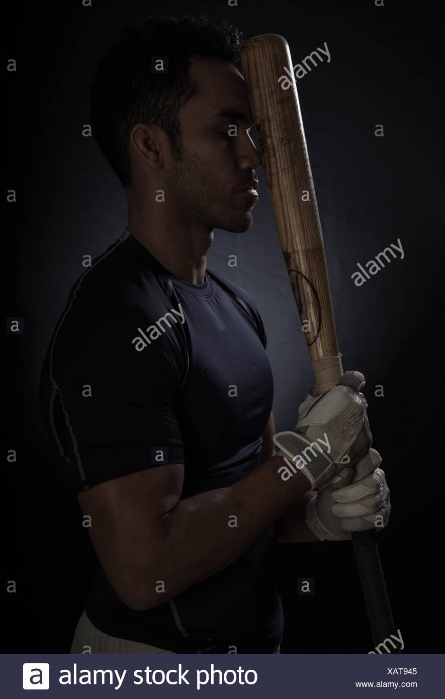 Retrato de un jugador de béisbol Imagen De Stock