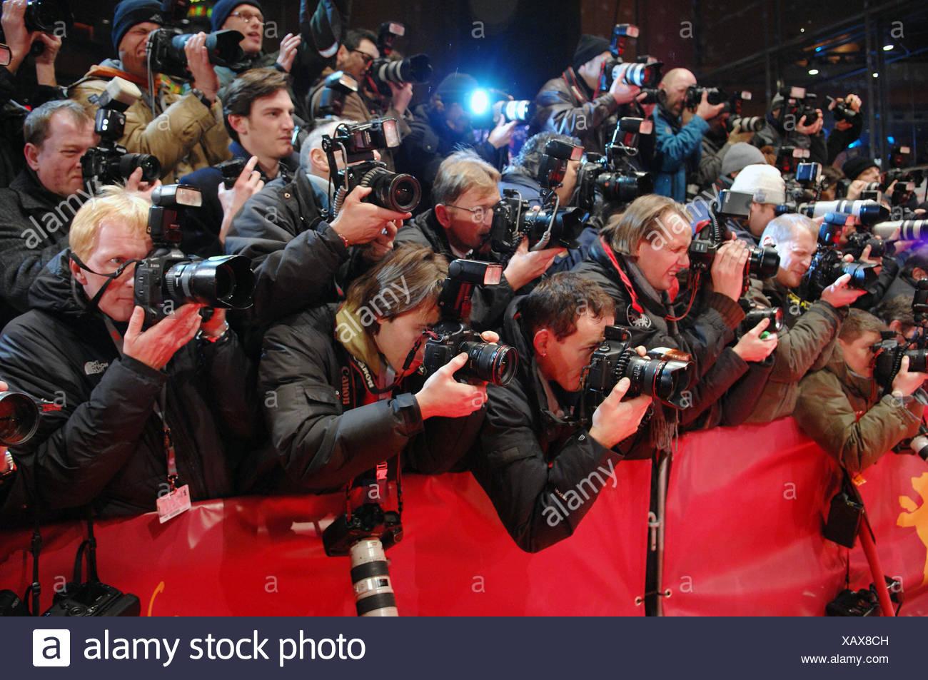 Los fotógrafos en la alfombra roja en Berlín Fotografía de