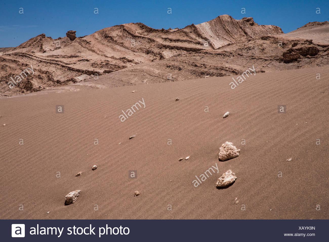 Valle de la Luna en el desierto de Atacama, Imagen De Stock