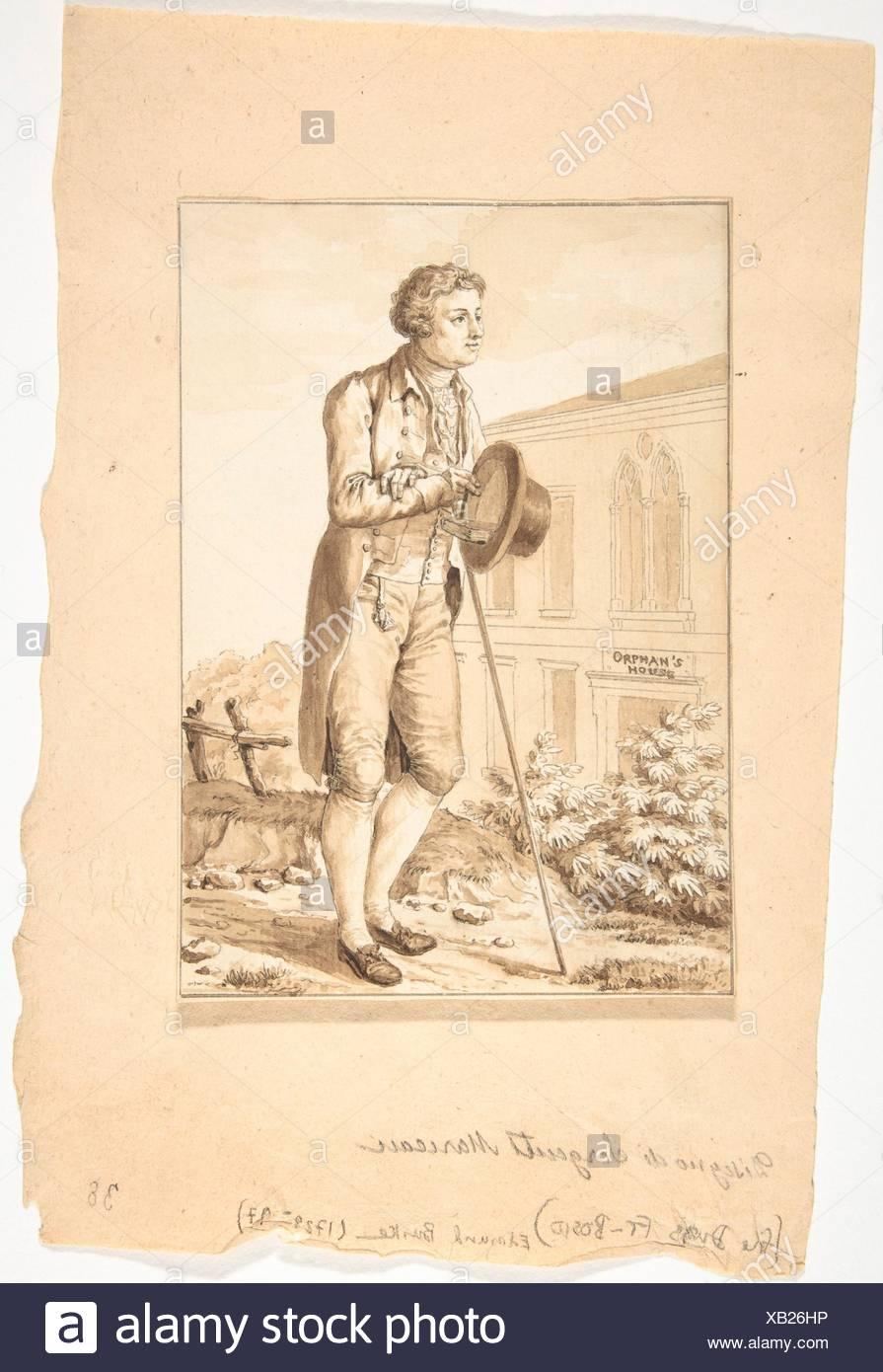 Retrato de Edmond Burke. Artista: Antoine Louis François Sergent Marceau (Francés, Chartres 1751-1847 Niza); niñera: Retrato del Honorable Imagen De Stock