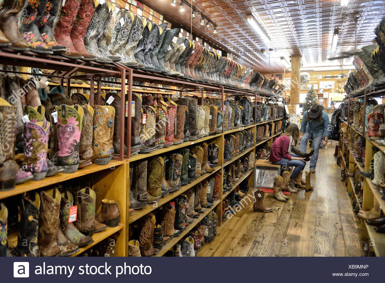 Ee.Uu., país, Estados Unidos, Texas, Austin, boot, botas, almacén, compras, Americana Imagen De Stock