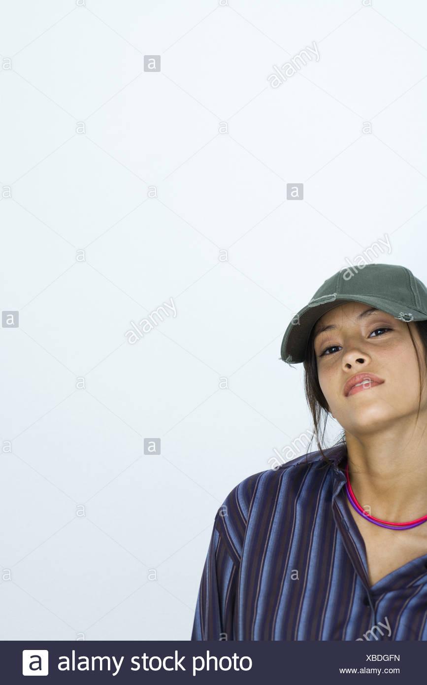 Wearing Baseball Caps Cap Hats Hat Imágenes De Stock   Wearing ... fb62f88e0d7