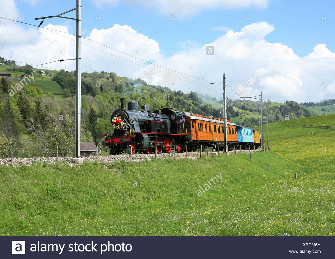 Sudeste road Amor express train Cupido Express tren de carretera de vapor vapor Steam Train nostalgia nostalgia Imagen De Stock
