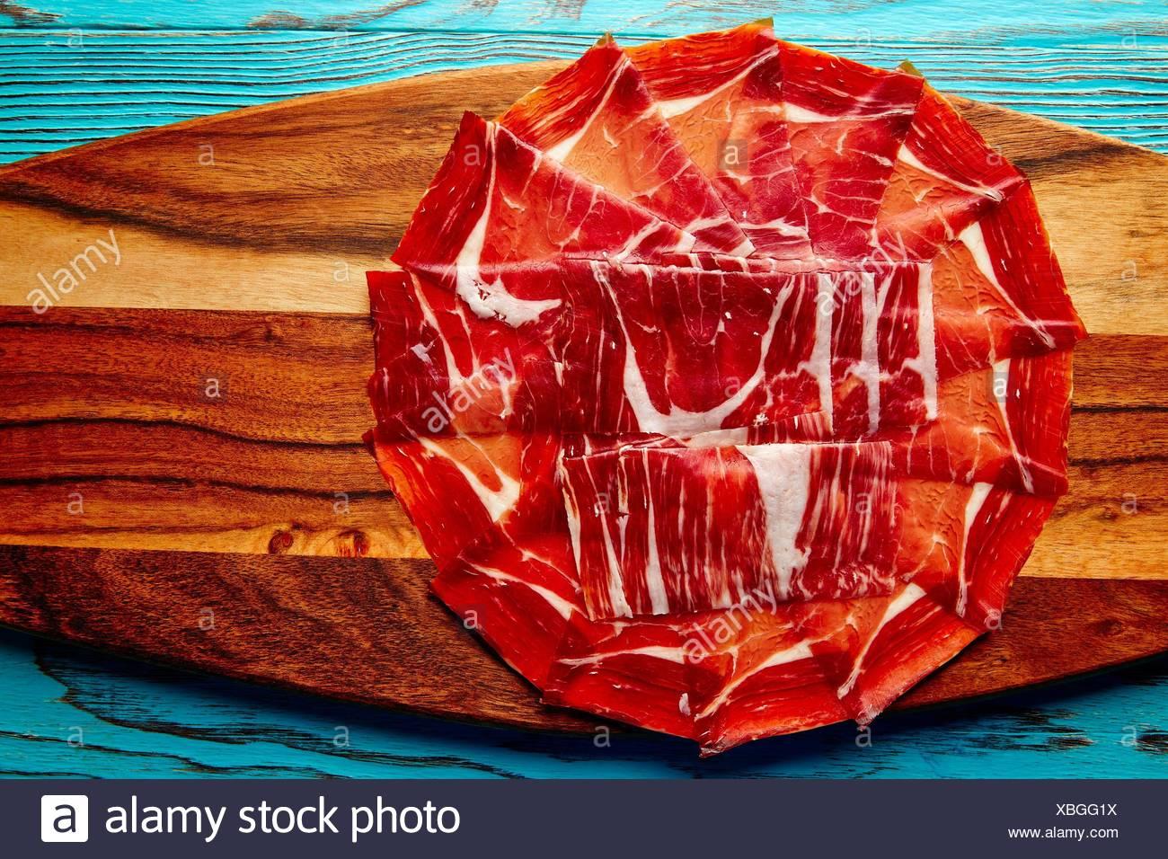 Jamon iberico han de España tapas andaluzas. Imagen De Stock