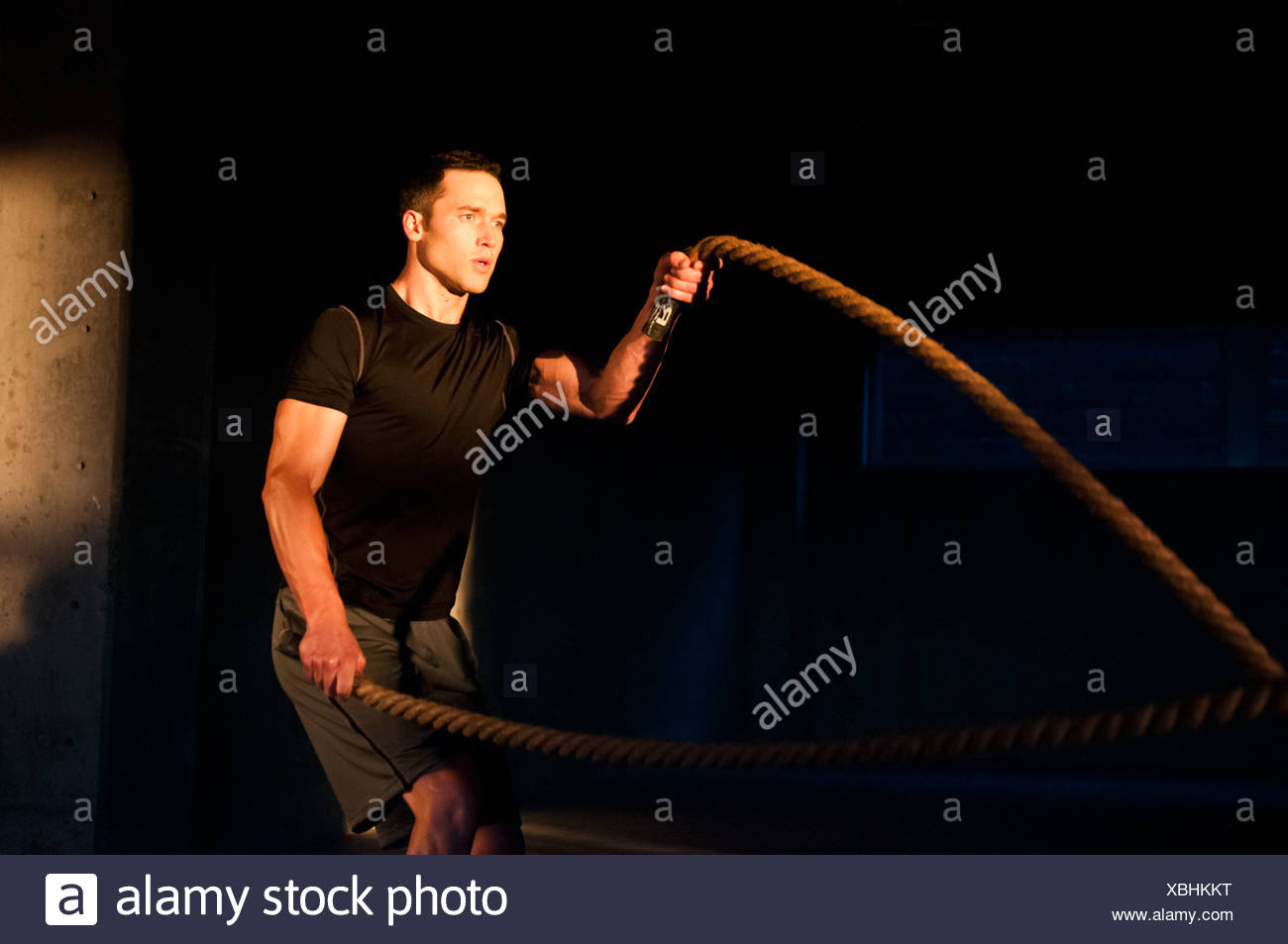 Atleta spinning saltar a la comba Imagen De Stock