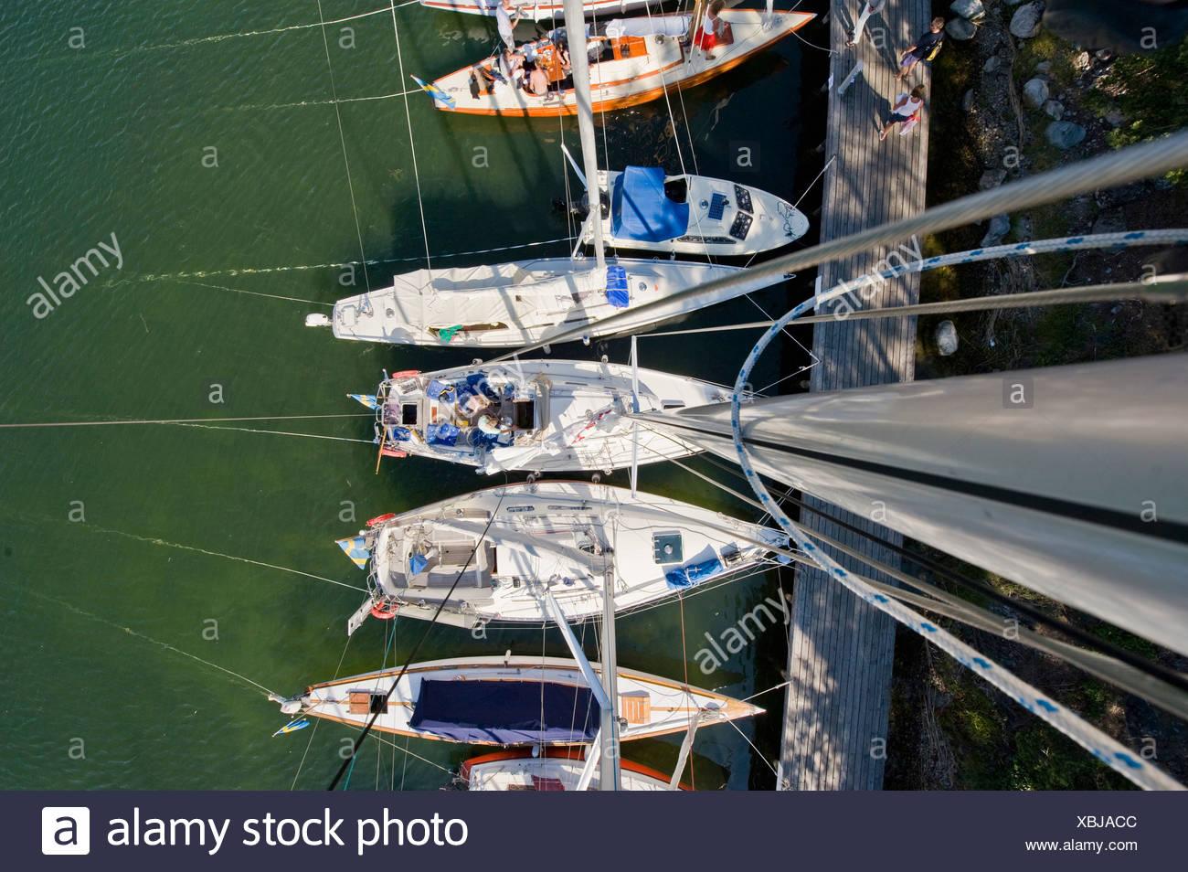Pequeños barcos desde arriba Imagen De Stock