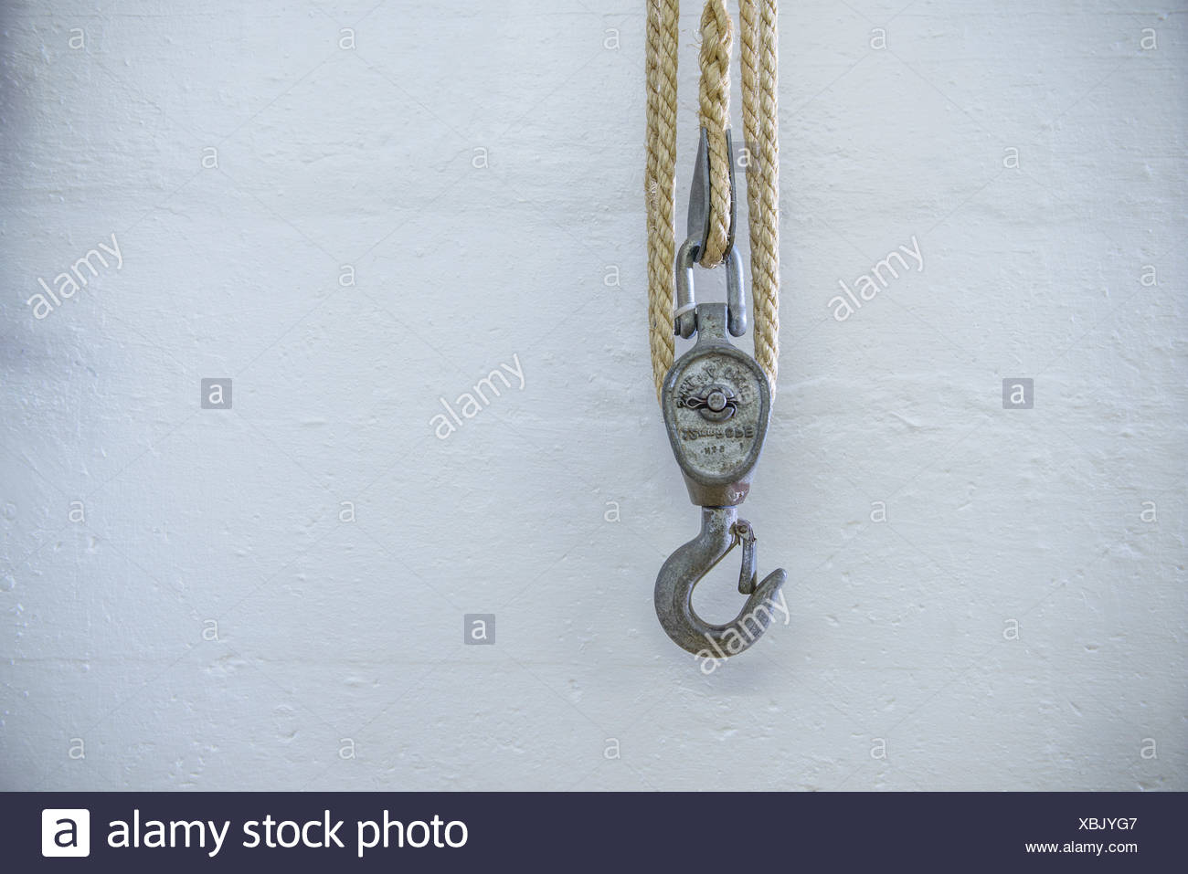 Cierre de cuerda y gancho Imagen De Stock