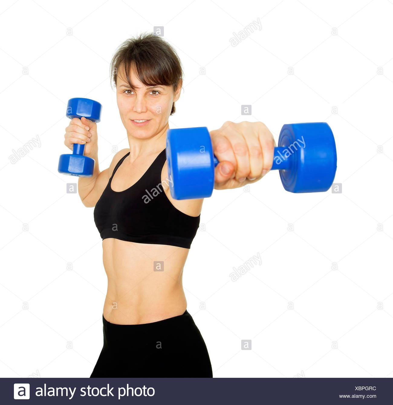 Levantamiento de pesas Imagen De Stock