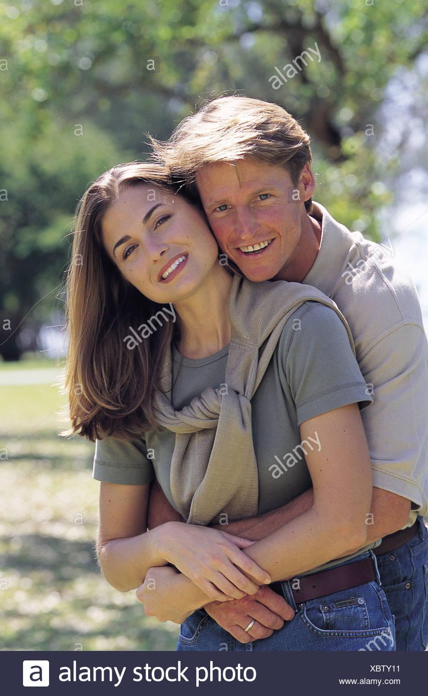 Hombre y mujer Foto de stock