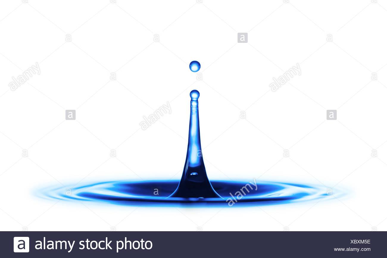Impacto de la gota de agua Imagen De Stock