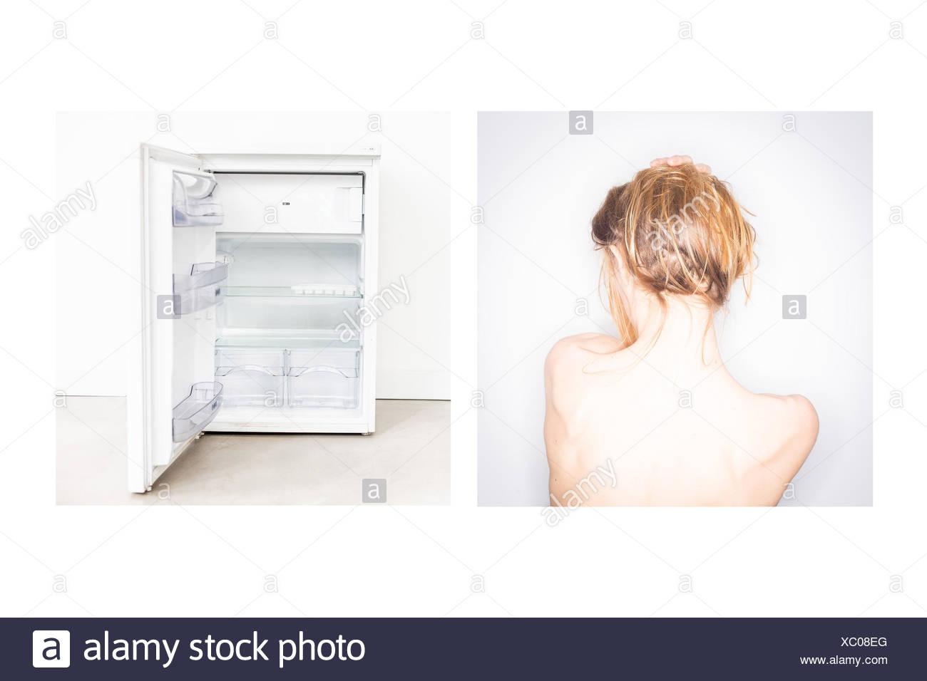 Concepto de la Anorexia. Imagen De Stock