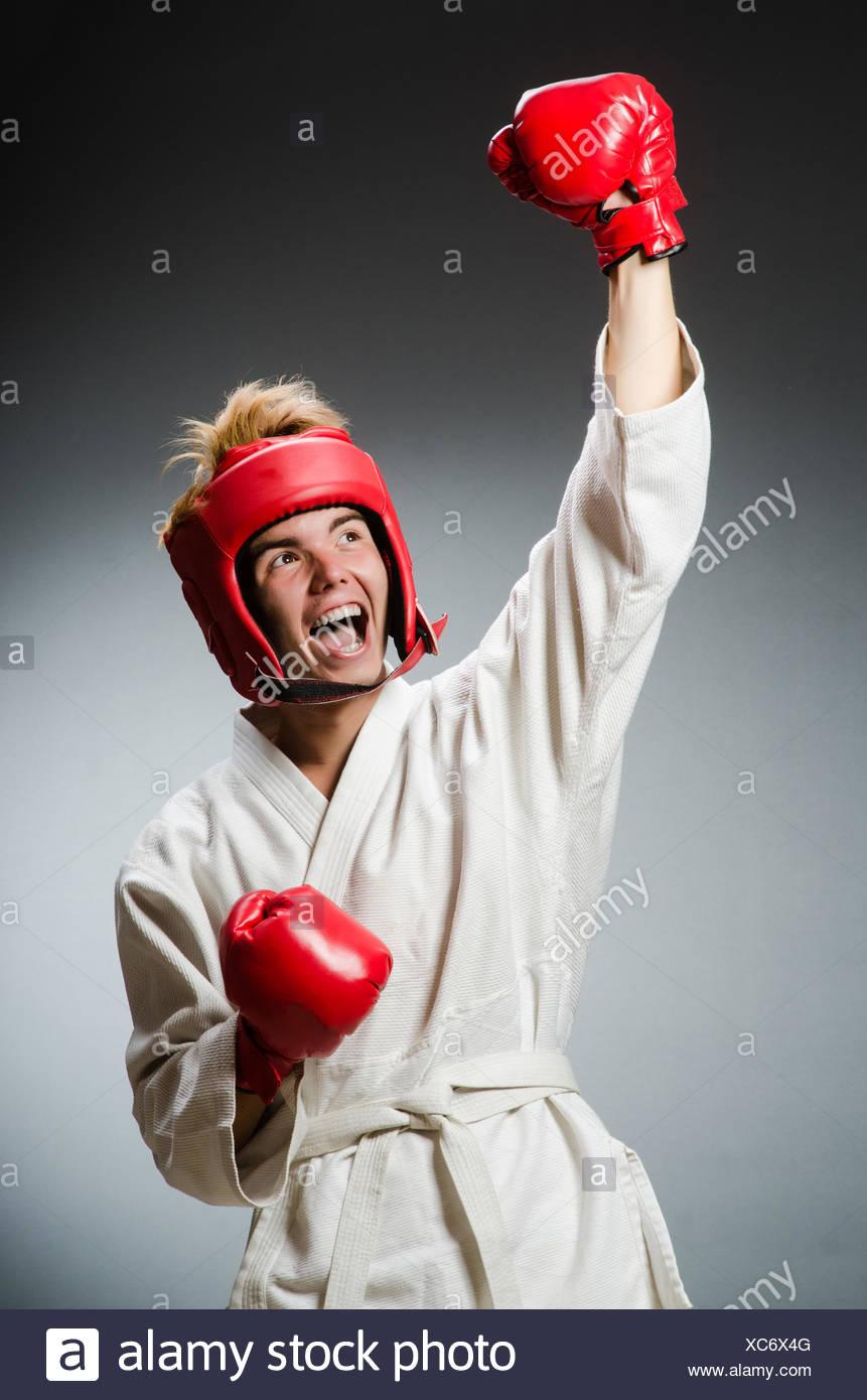 Gracioso boxer EN EL DEPORTE CONCEPTO Imagen De Stock