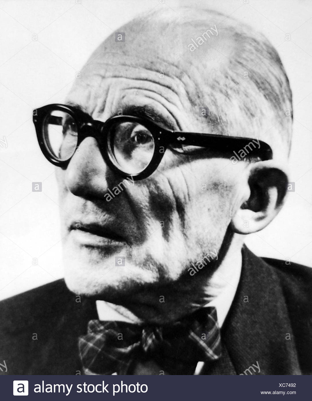 Le Corbusier (Charles-Edouard Jeanneret-Gris), 6.10.1887 - 27.8.1965, Suiza - El arquitecto francés, retrato, 1950 Additional-Rights-juegos-NA Imagen De Stock