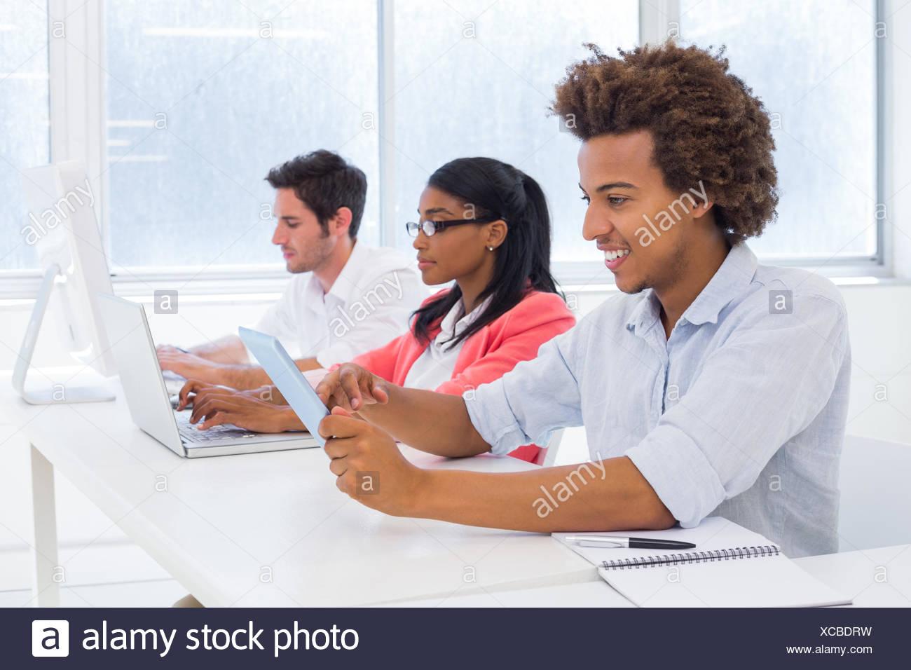 La gente de negocios a trabajar duro Imagen De Stock