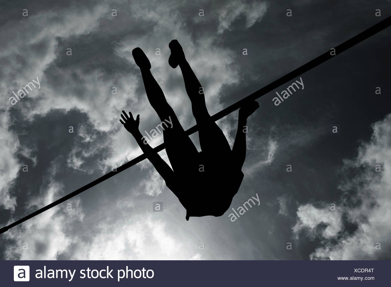 Silueta de puente alto Imagen De Stock