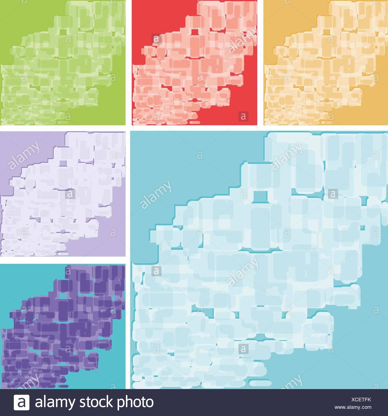 Conjunto de fondos abstractos Imagen De Stock