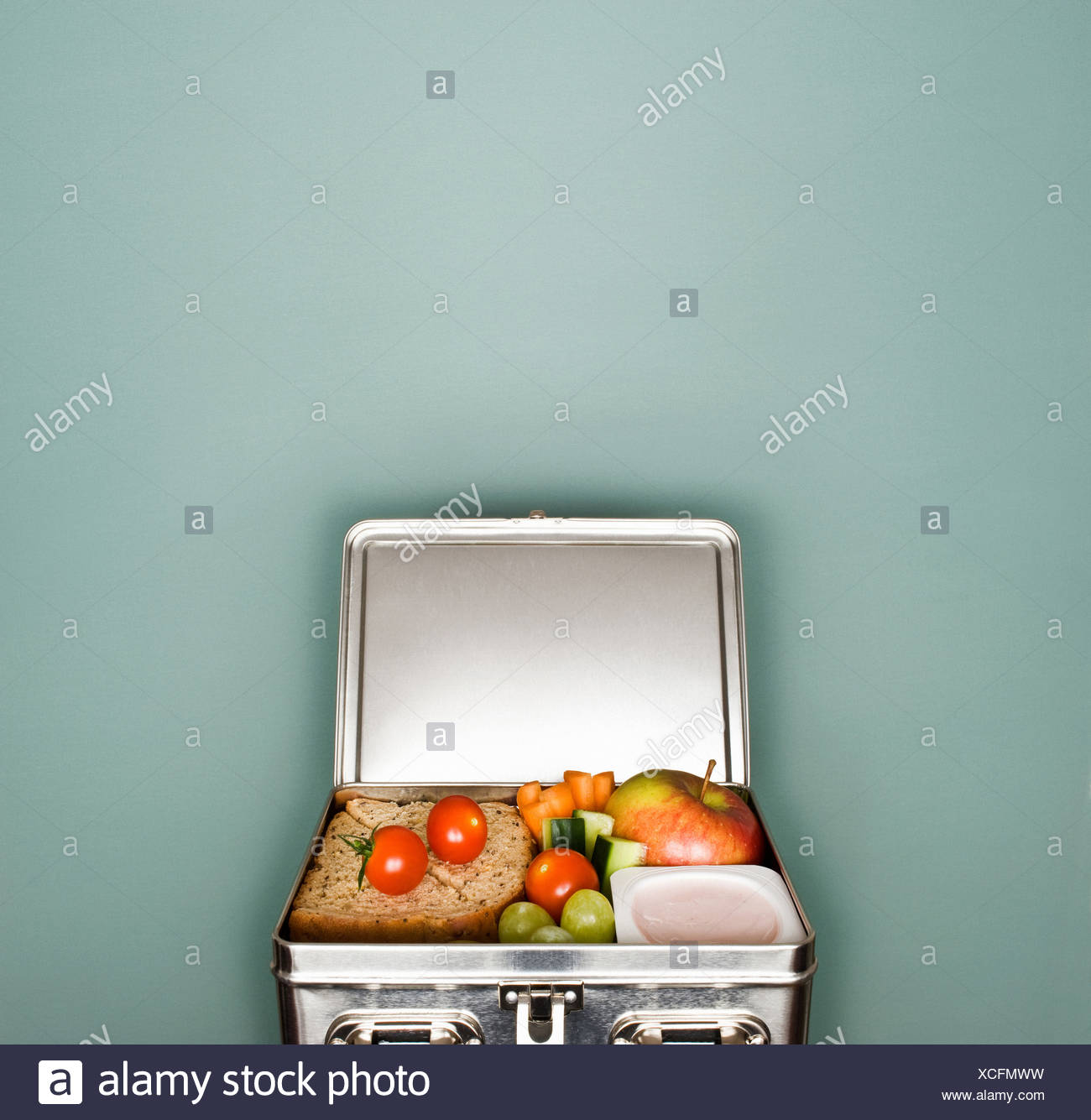 Una caja de almuerzo Imagen De Stock