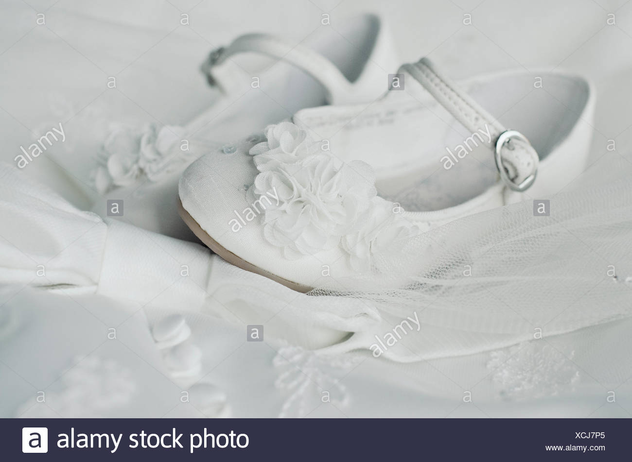 Close-up de zapatos del Bridesmaid Imagen De Stock