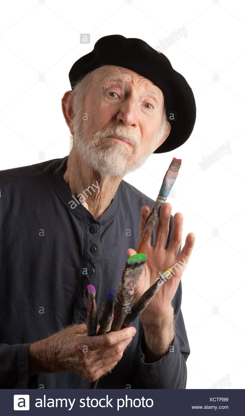 df087da9aac8e Arte francés barba adultos adultos boina artística pintor solo arte  solitario