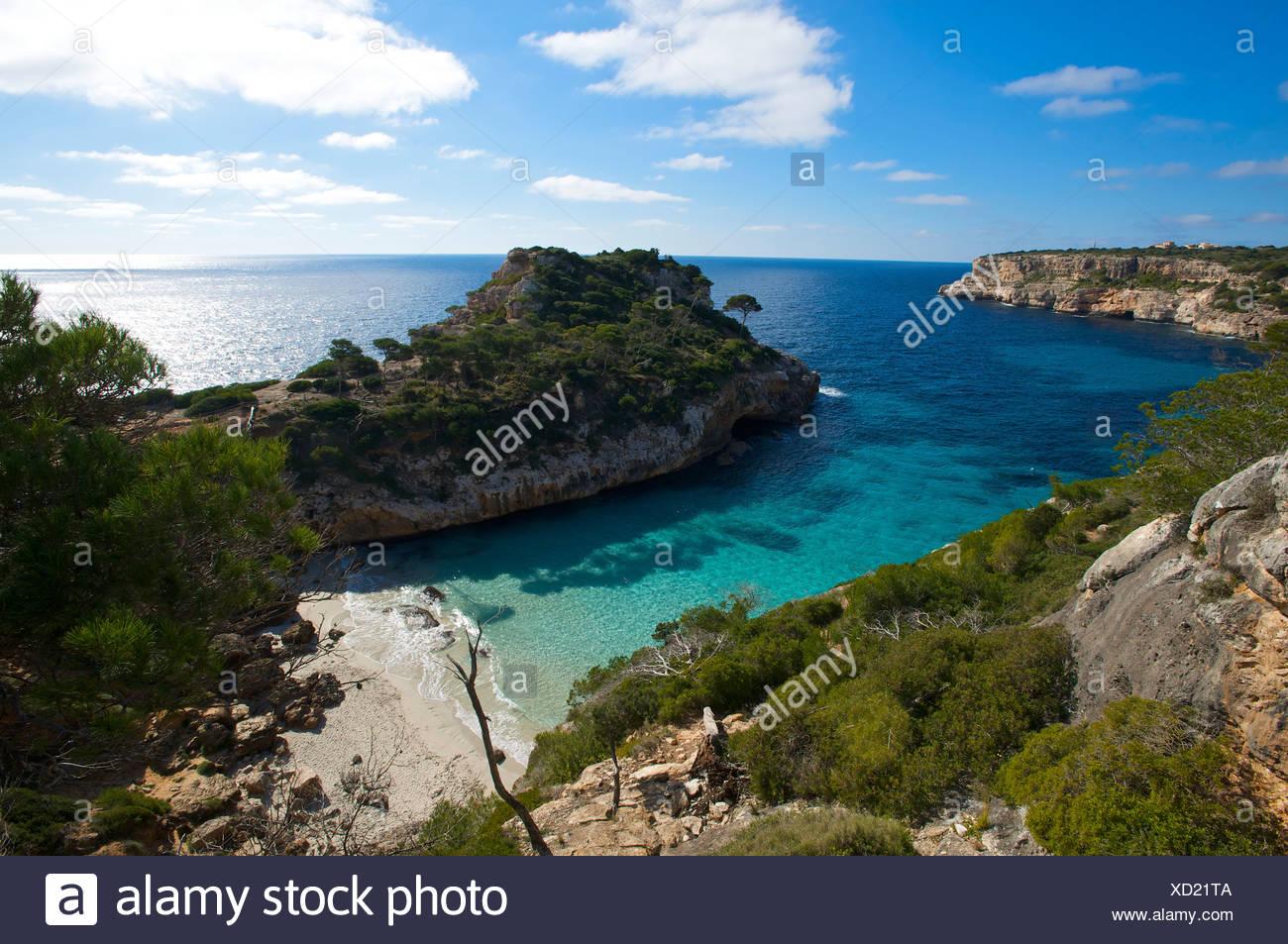 Cala S'Amoníaco, Mallorca, Islas Baleares, España, Europa Imagen De Stock