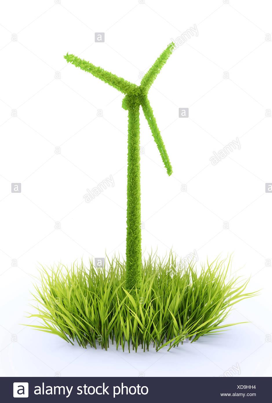 Energía verde, obra conceptual Foto de stock