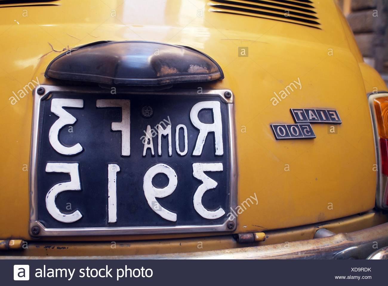 Registro de coches clásicos Foto de stock