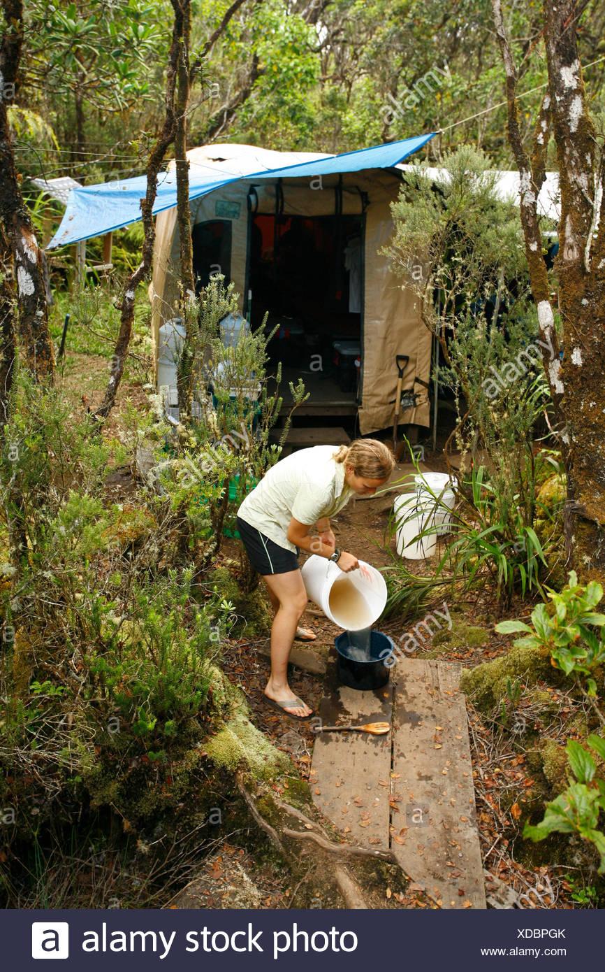 La biología/Research Station, Kauai, Hawaii, EE.UU. Imagen De Stock