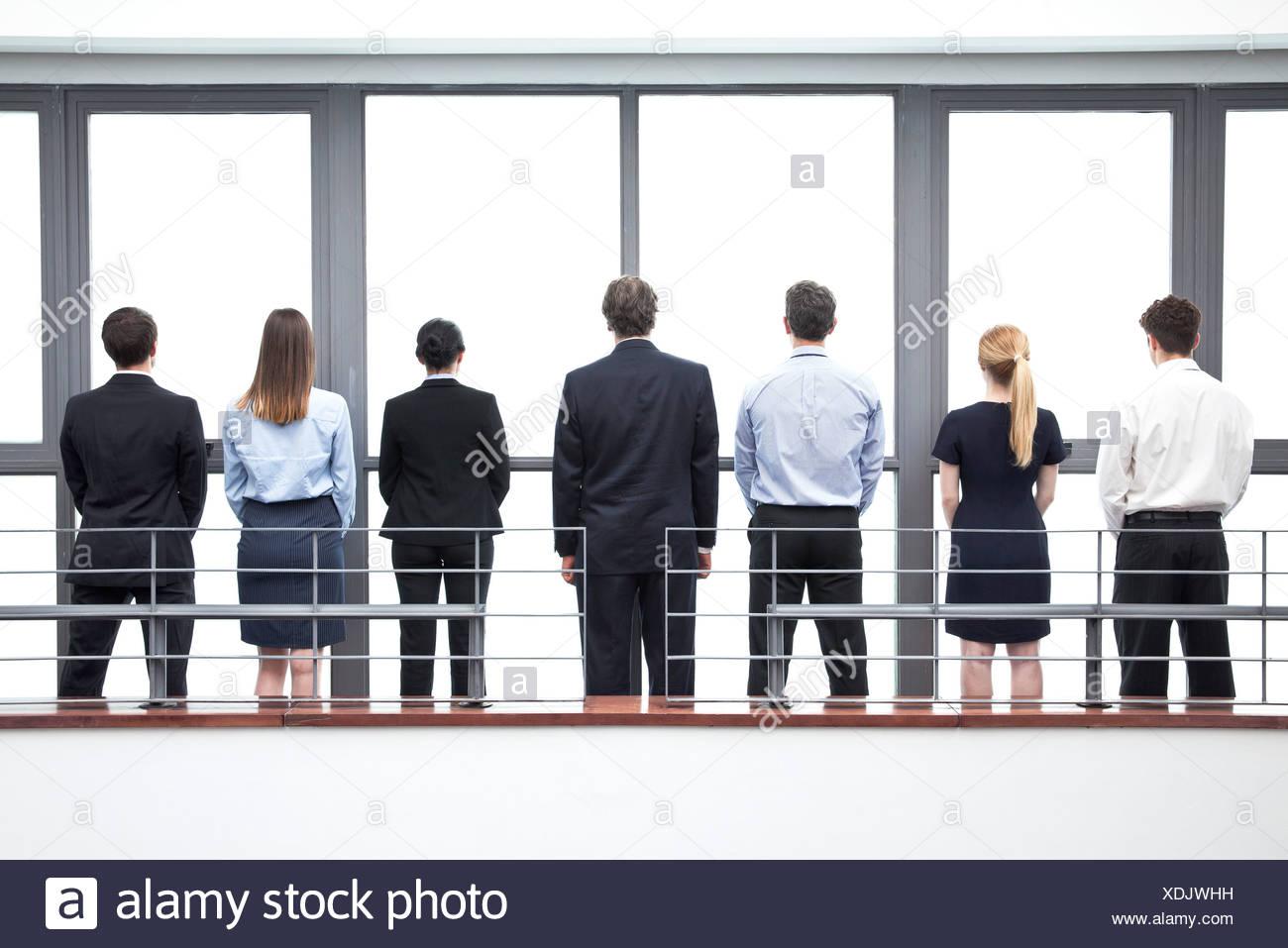 Equipo de profesionales de negocios, vista trasera Imagen De Stock