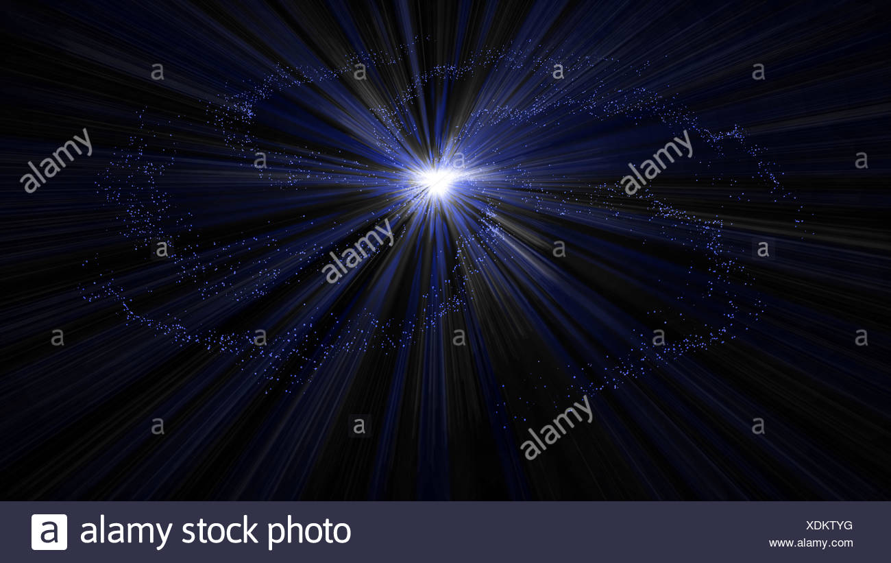 Espacio azul de resplandecientes estrellas de la galaxia Imagen De Stock