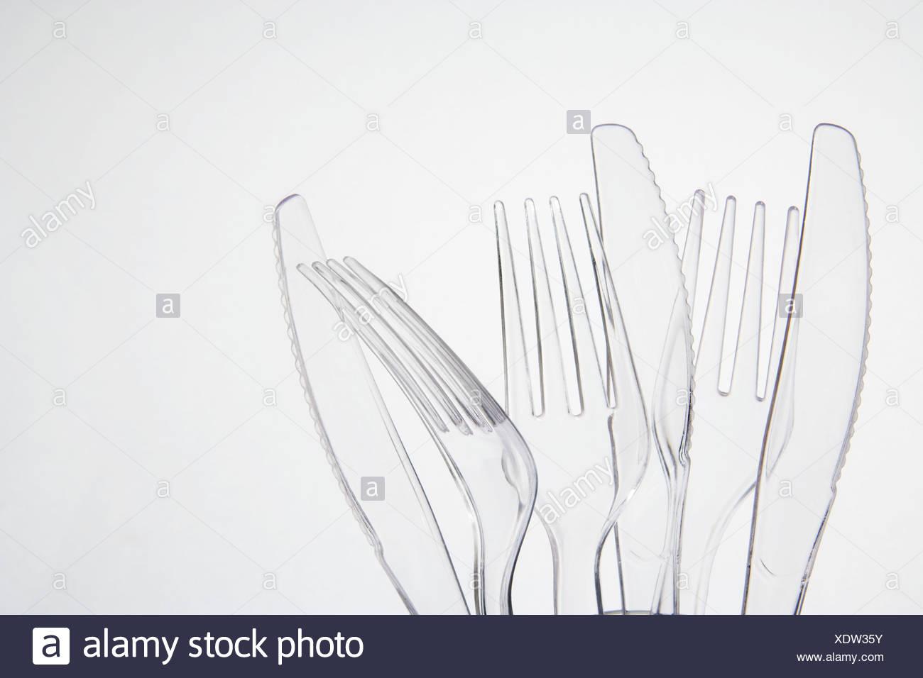 Cubiertos de plástico Imagen De Stock