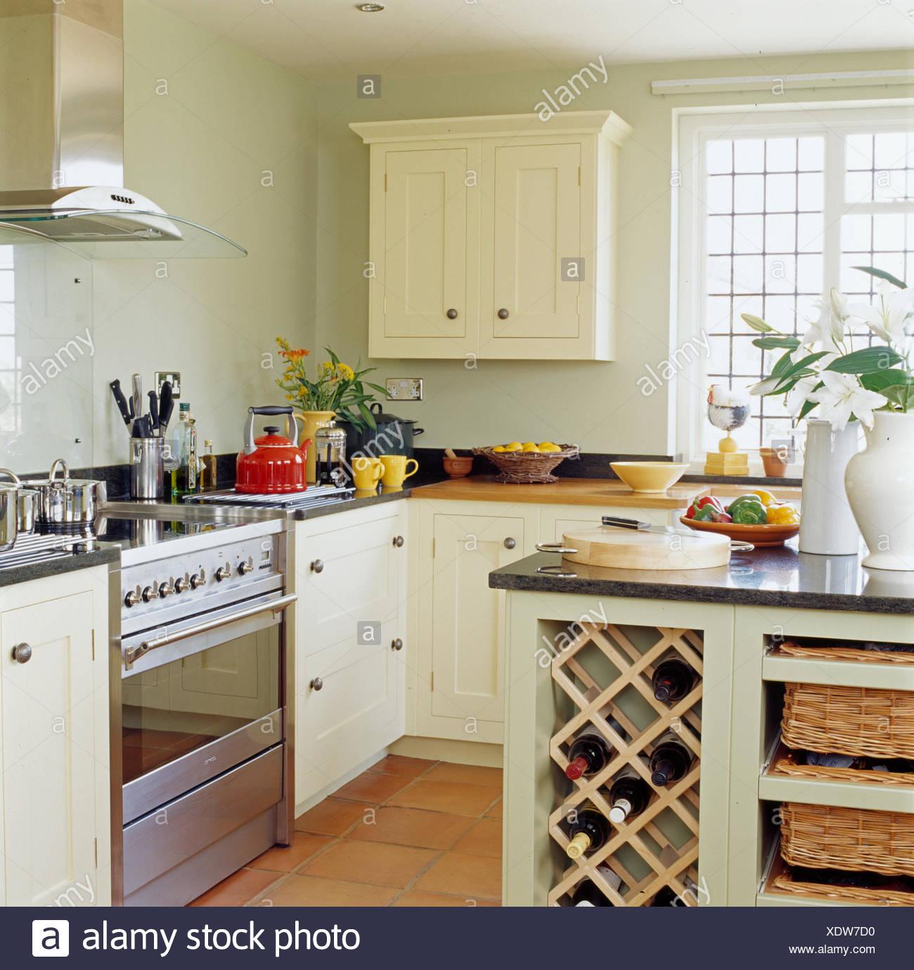 Kitchen Neutral Neutrals Island Unit Imágenes De Stock & Kitchen ...