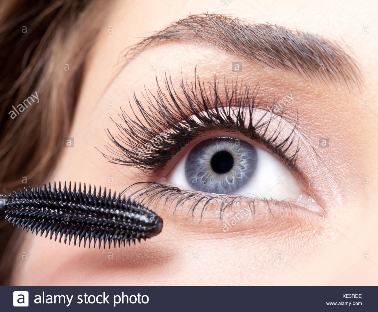 maquillaje de mascara Imagen De Stock