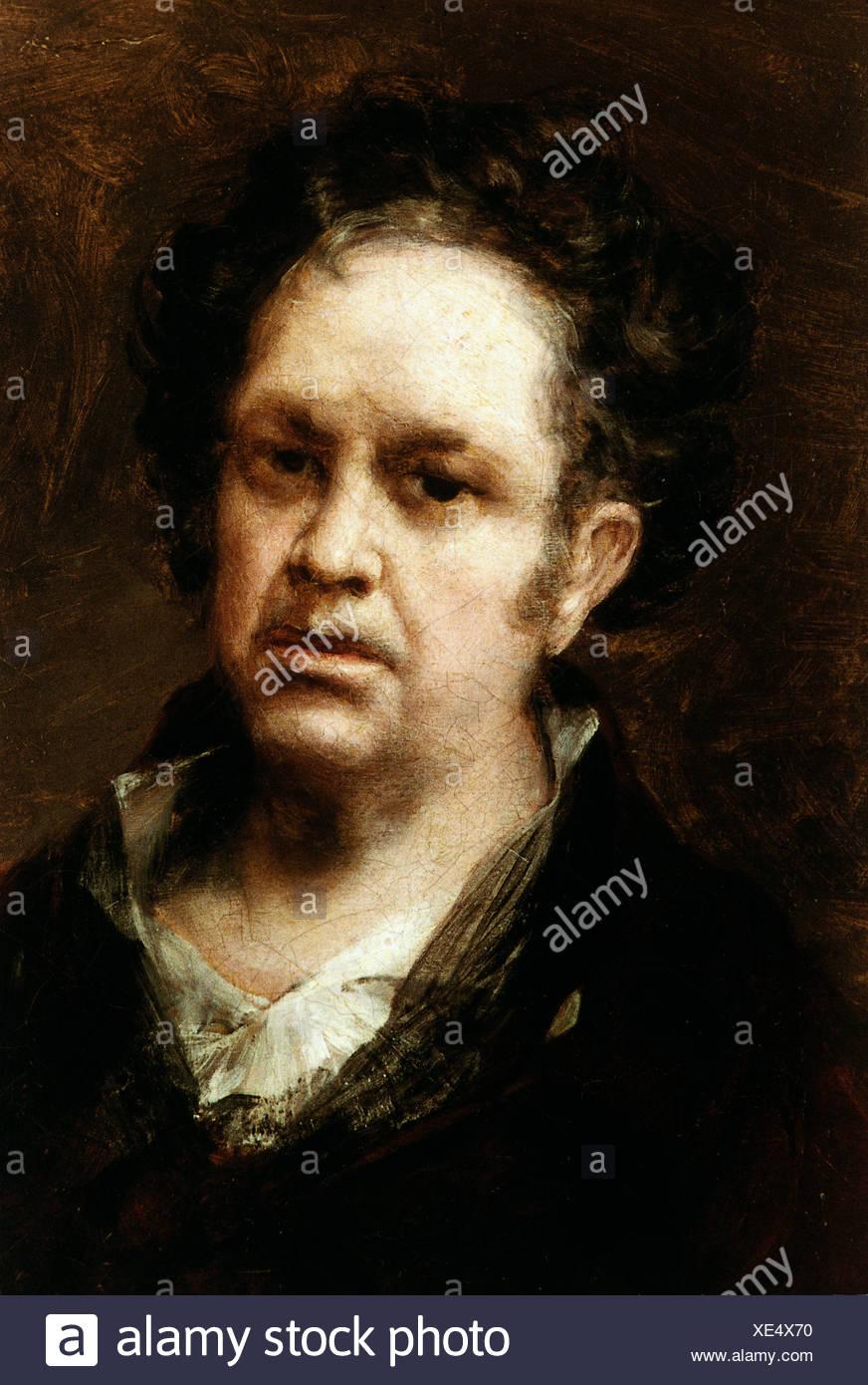 Goya y Lucientes, Francisco de, 30.3.1746 - 16.4.1828, el pintor español, autorretrato, Museo del Prado, Madrid, Foto de stock