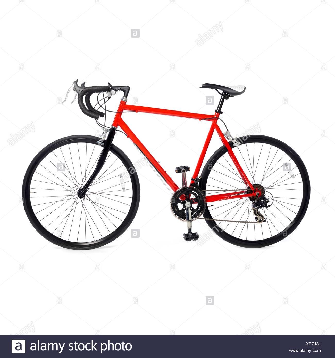 Bicicletas de carretera contra un fondo blanco. Imagen De Stock