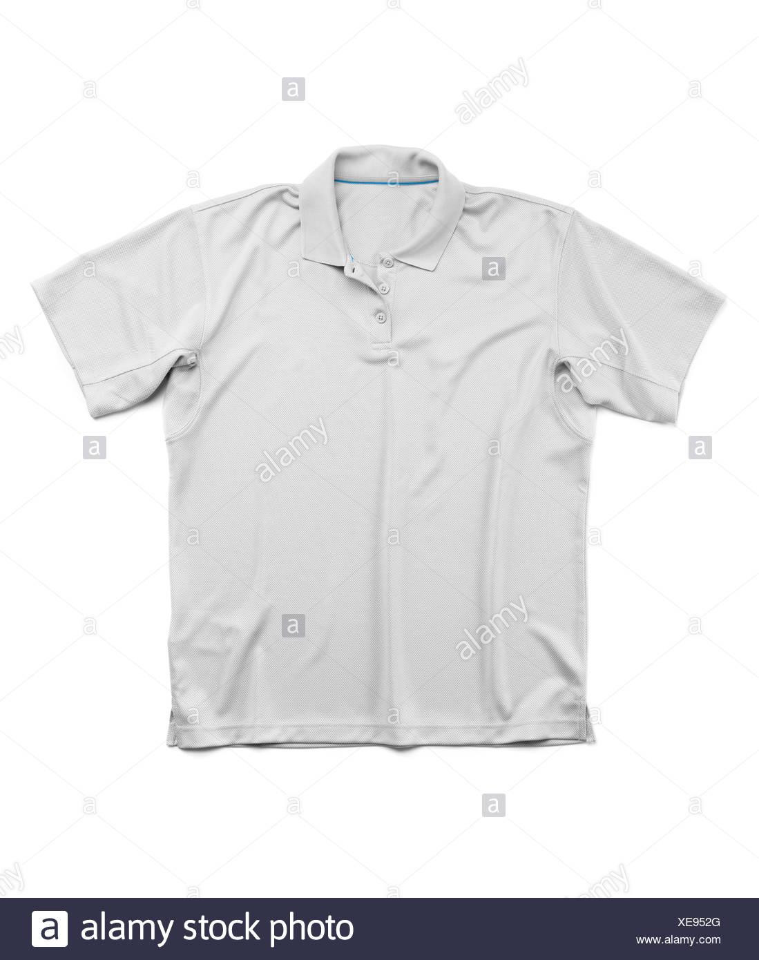 Los hombres verano gris de manga corta polo shirt Imagen De Stock