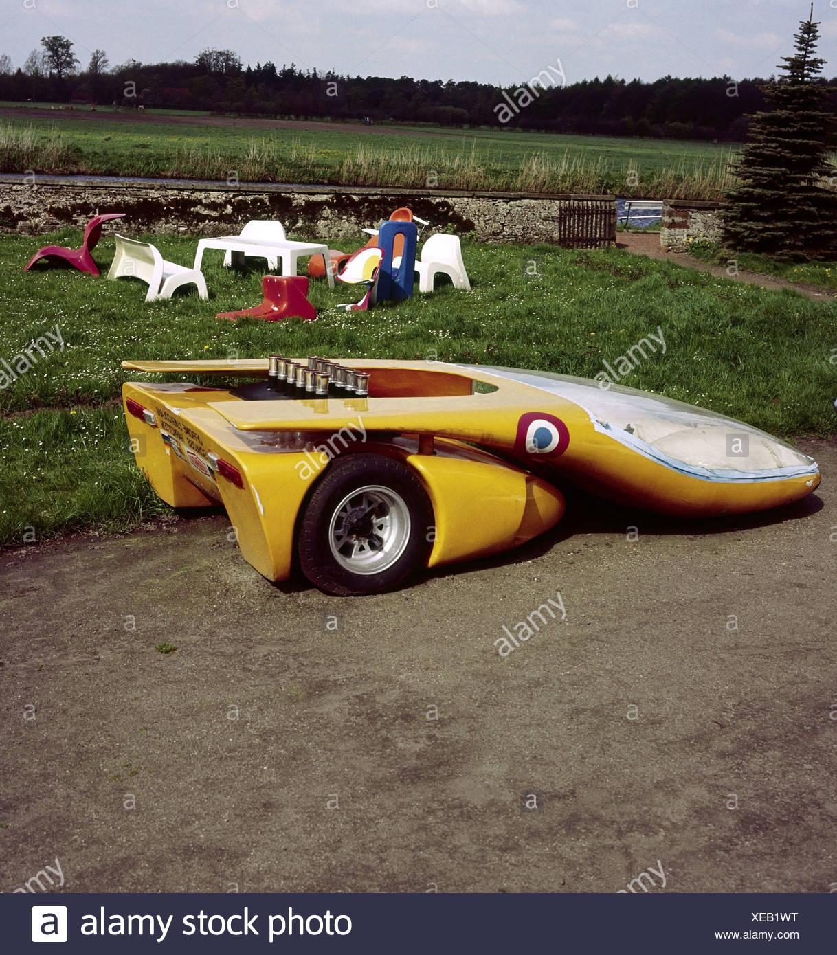 Transporte / Transporte, coche, vehículo variantes, coche deportivo, cuerpo de auto estudio por Luigi Colani (* 1928), castillo de Ketteler / Harko Imagen De Stock