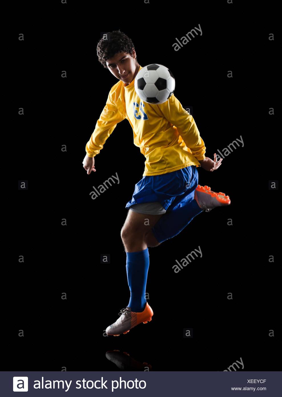 jugador de fútbol. Foto de stock
