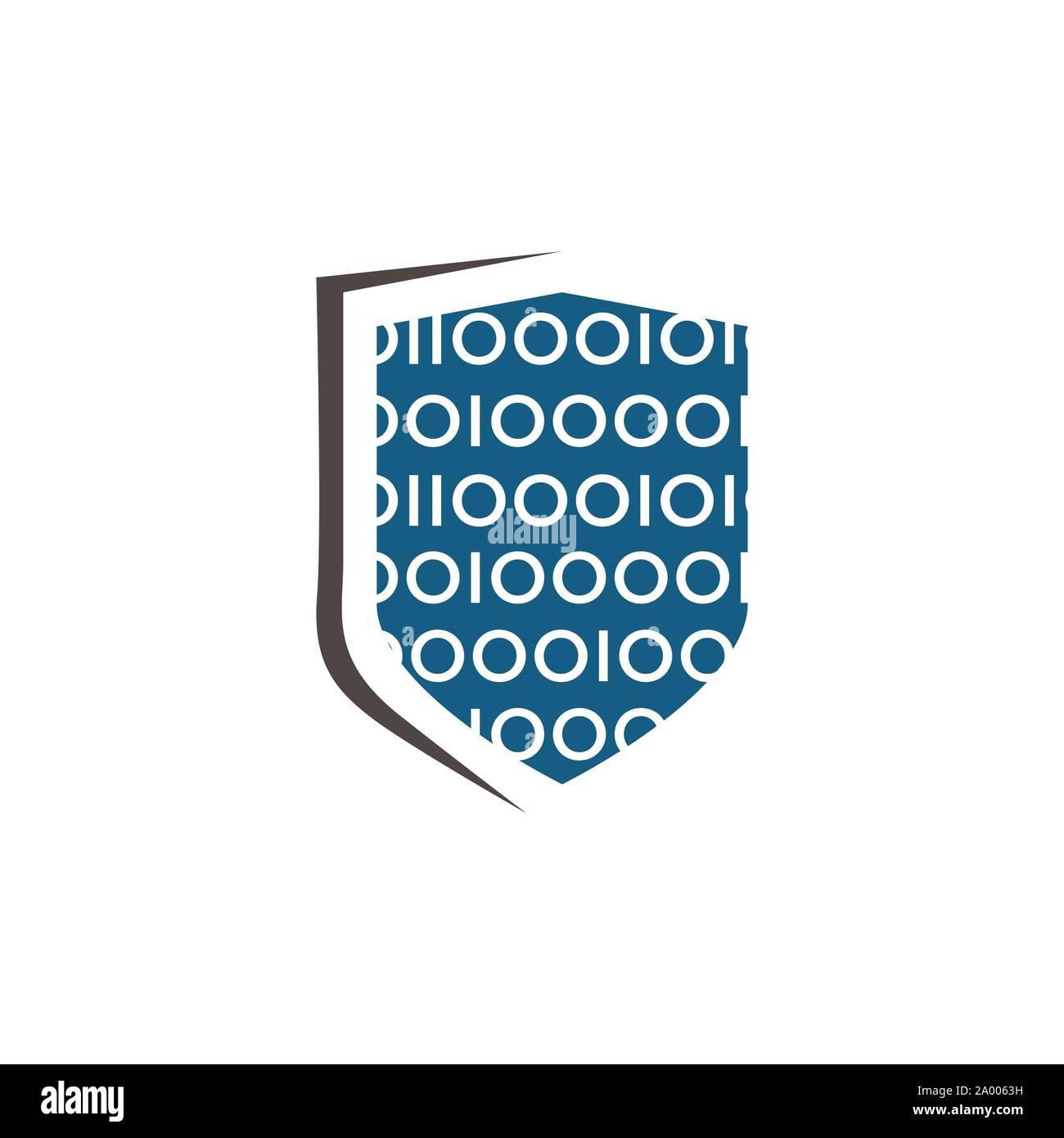 Bouclier logo entreprise, logo de l'entreprise de sécurité prêt à l'emploi. Symbole abstrait de la sécurité. Logo de l'écran. Icône de bouclier. Logo de sécurité. Vector icône de bouclier Illustration de Vecteur