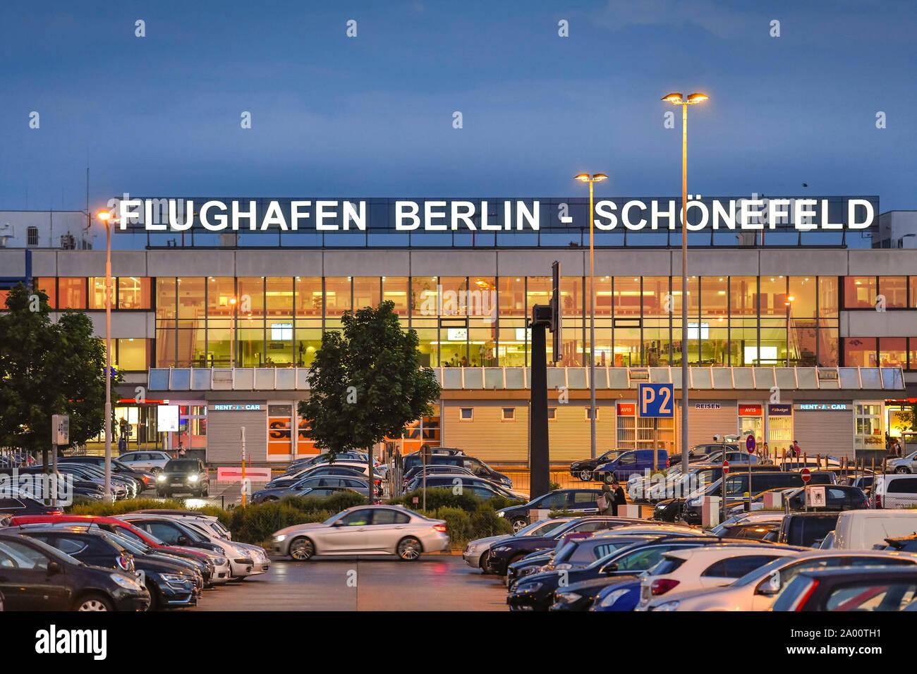 La borne A, Flughafen Schönefeld, Brandebourg, Allemagne Banque D'Images