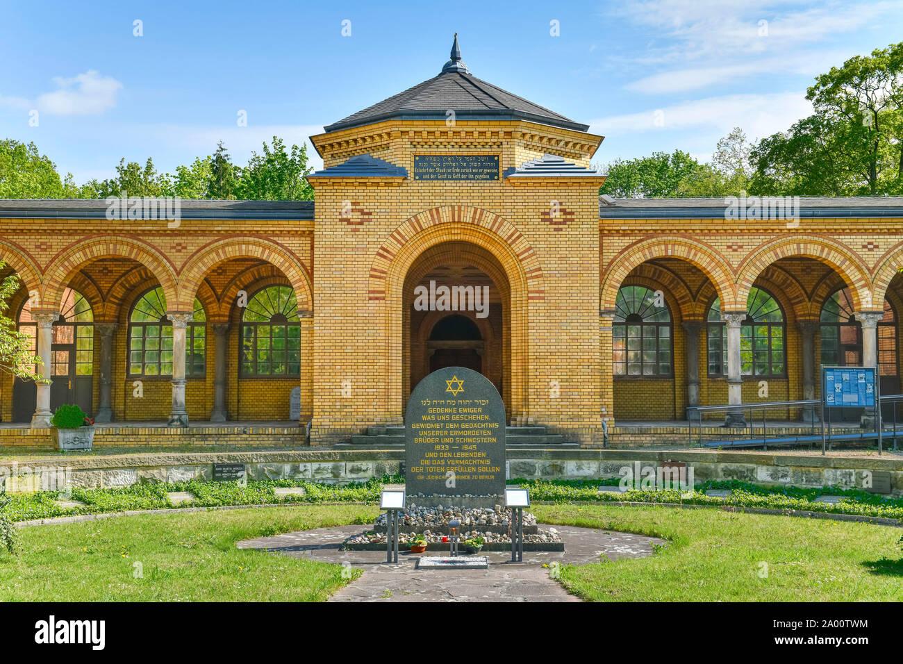 Juedischer Friedhof, Herbert-Baum-Strasse, Weissensee, Pankow, Berlin, Deutschland Banque D'Images