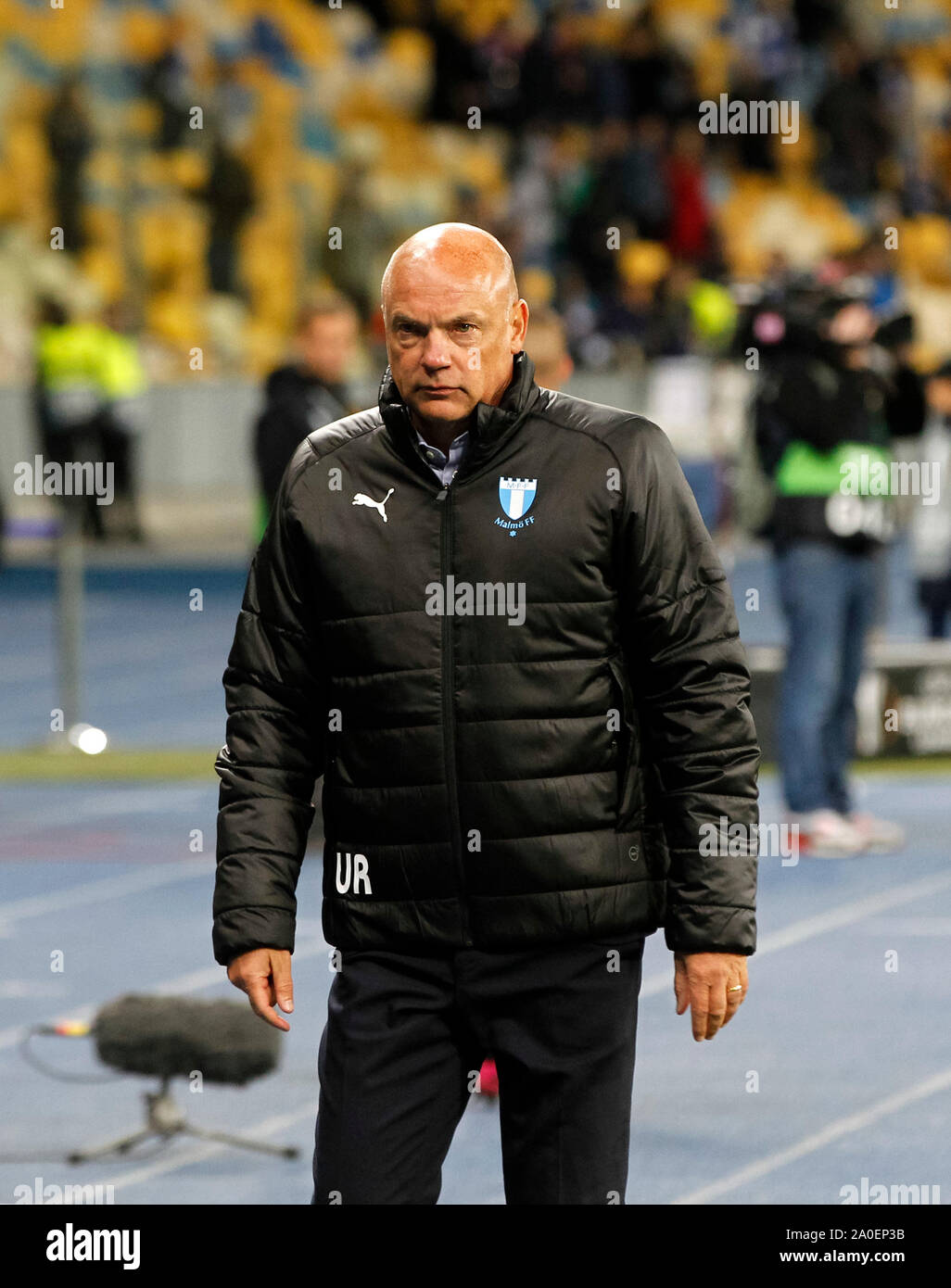 Kiev, Ukraine. 19 Sep, 2019. Uwe Rosler, entraîneur-chef de Malmö FF, vu après l'UEFA Europa League 2019/2020 phase groupe football match jour 1 jeu, entre Malmö FF Suédois et Ukrainiens FC Dynamo Kyiv, les CSN stade Olimpiyskiy. (Score final : Dynamo Kiev 1-0 Malmö FF) Credit : SOPA/Alamy Images Limited Live News Banque D'Images