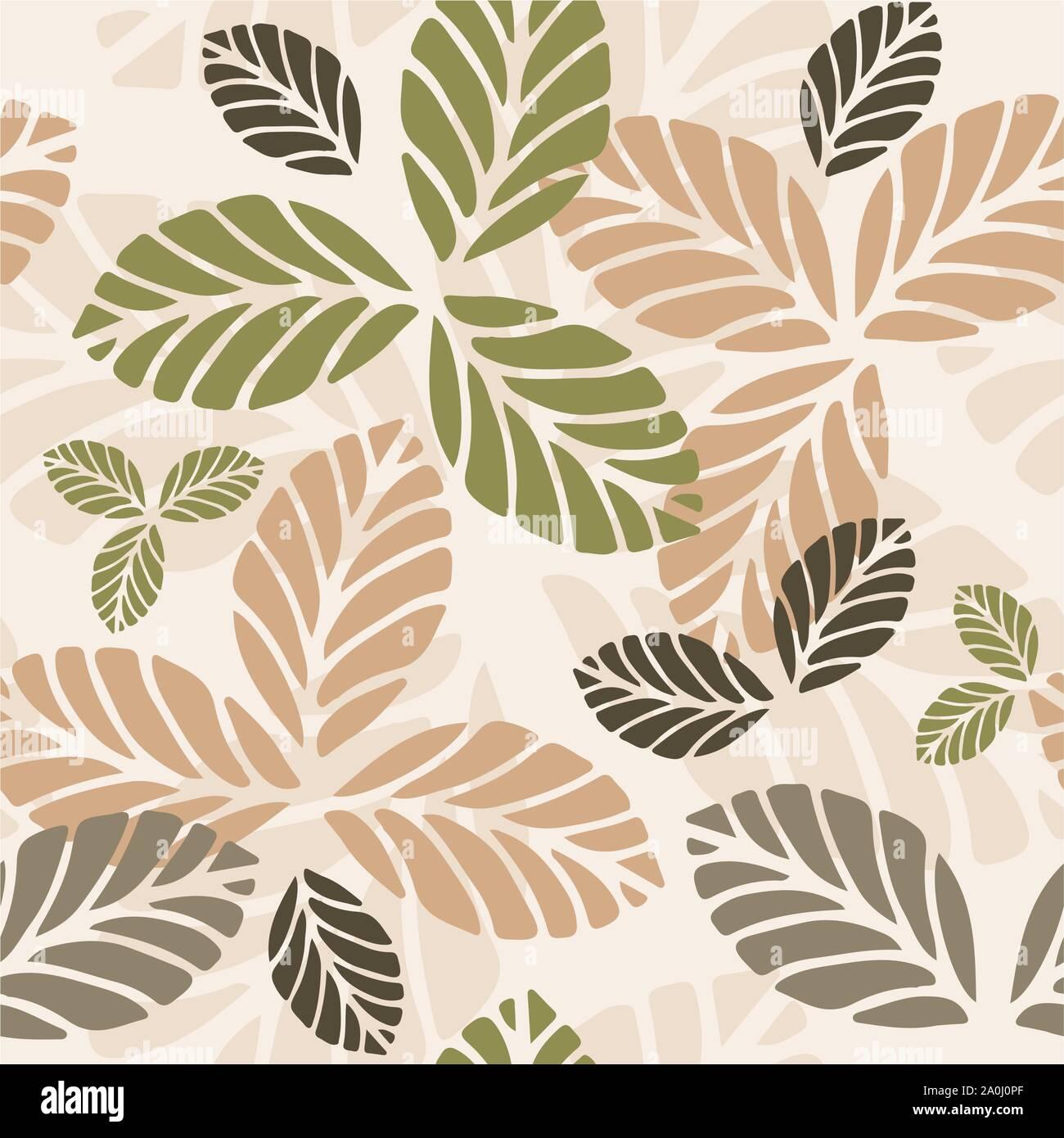 Transparente avec motif floral les feuilles d'automne Illustration de Vecteur