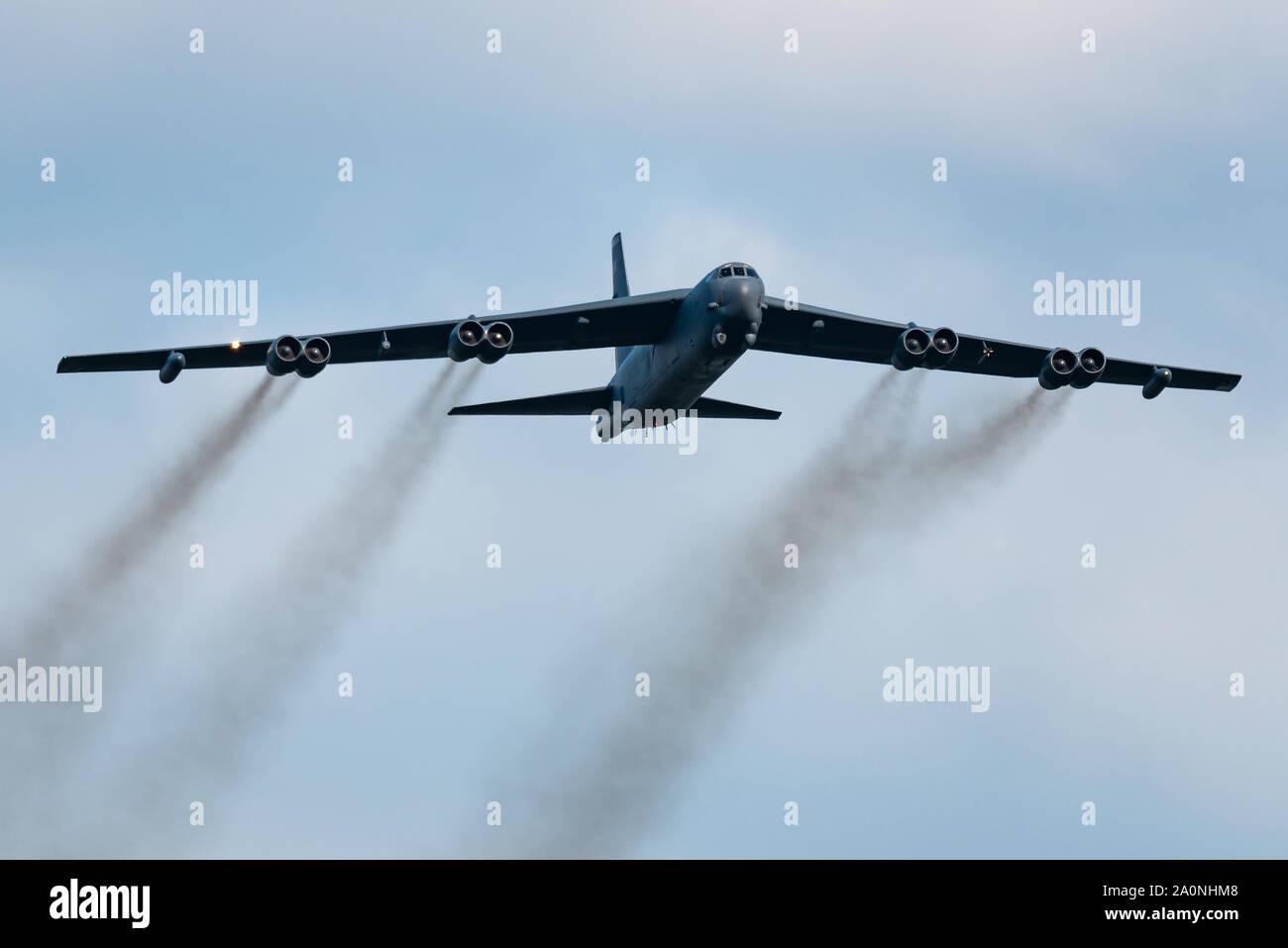 Un Boeing B-52 Stratofortress bombardier stratégique à partir de la Base aérienne de Barksdale de l'United States Air Force. Banque D'Images