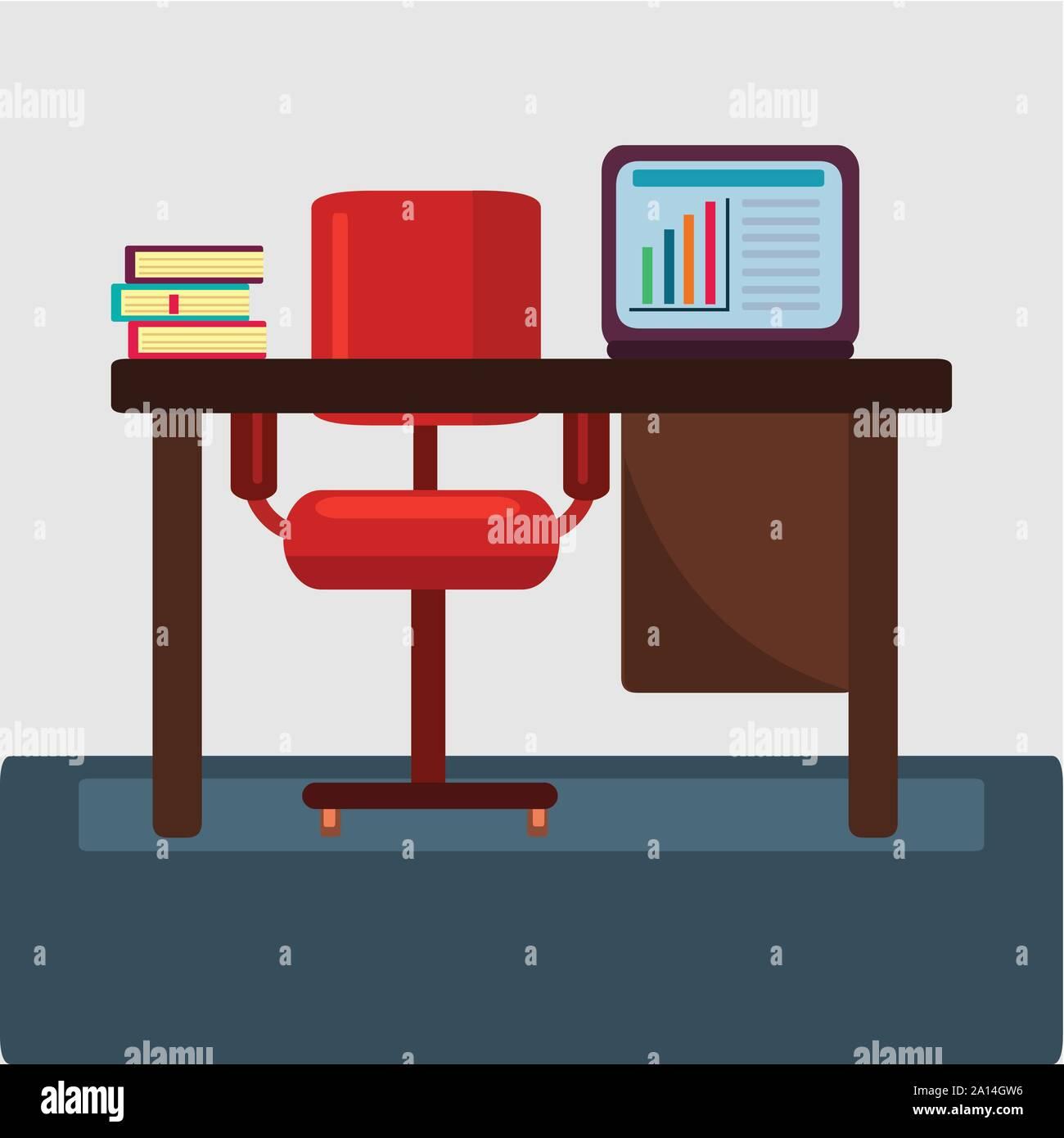 Travail de bureau concept vector illustration Illustration de Vecteur