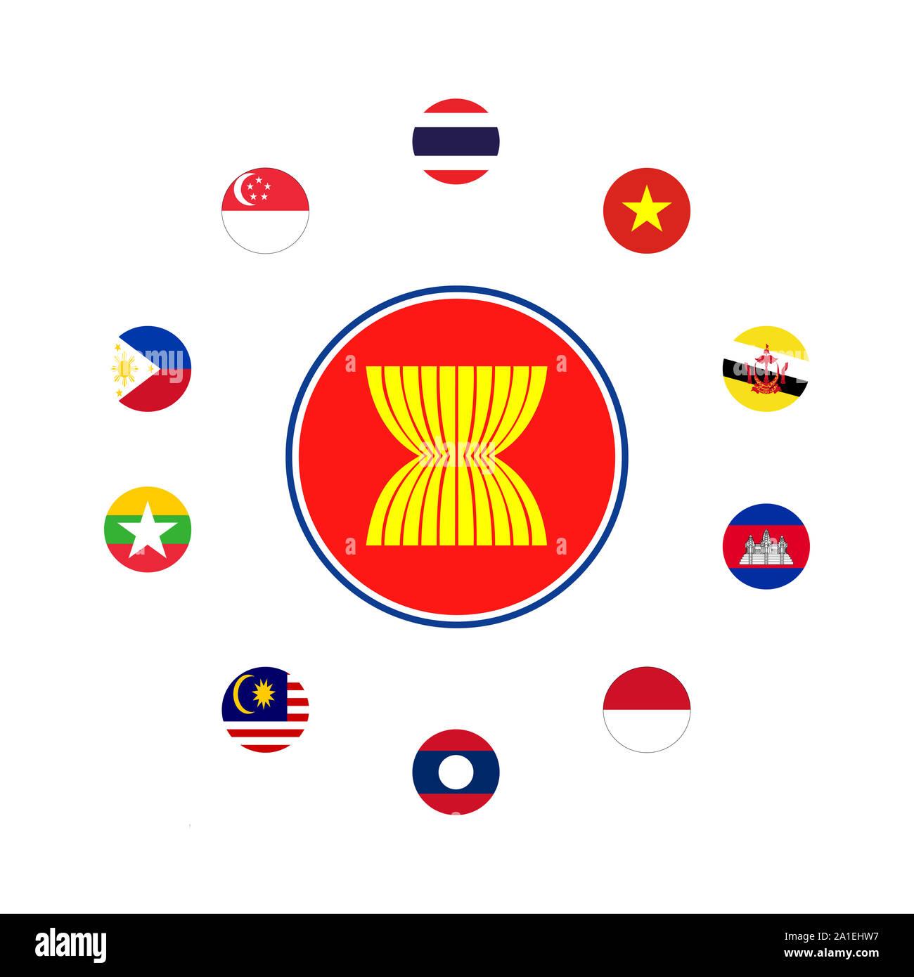 Nouveauté thaïlande thai drapeau pays national photo aimant de réfrigérateur