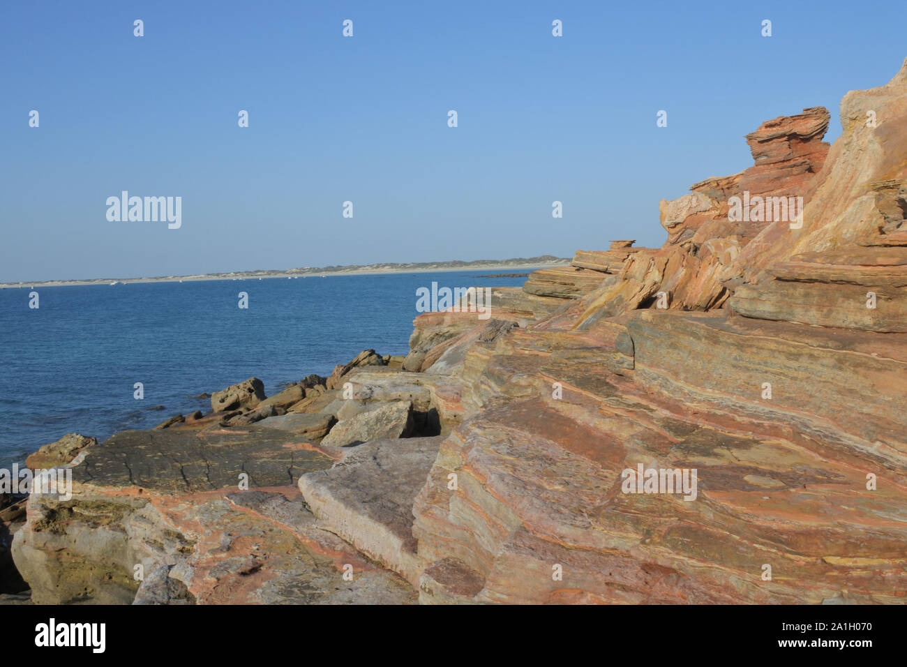 Paysage de Gantheaume point dans l'ouest de l'Australie Kimberley Broome Banque D'Images