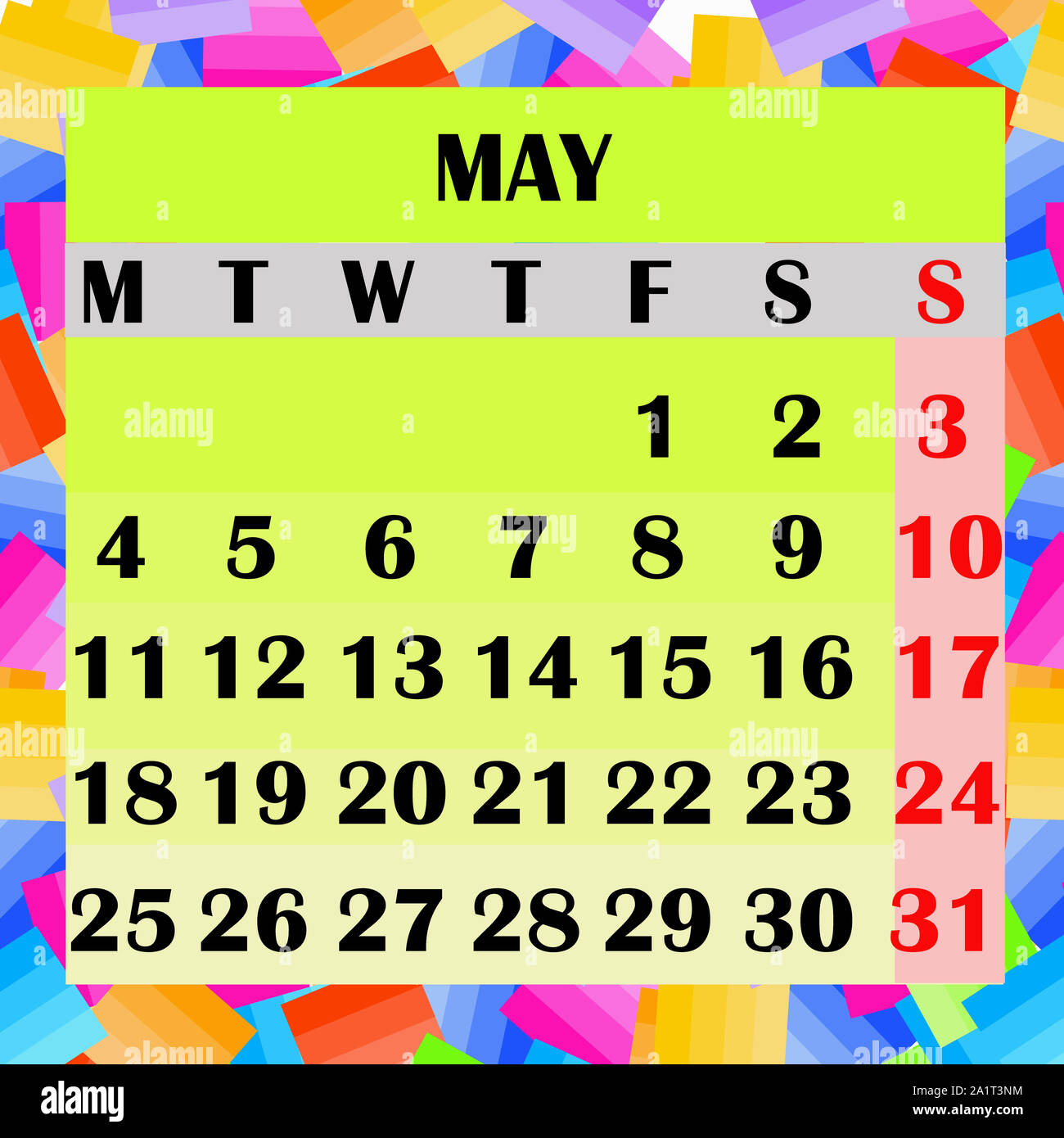Calendrier Moi De Mai 2020.Calendar Month May Photos Calendar Month May Images Alamy